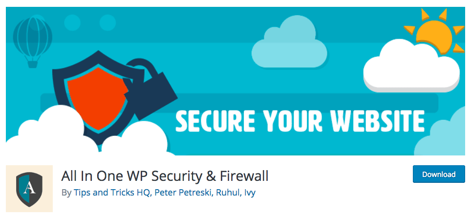افزونه All In One WP Security & Firewall