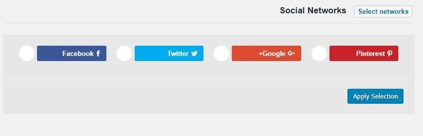 دکمه شبکه های اجتماعی در وردپرس