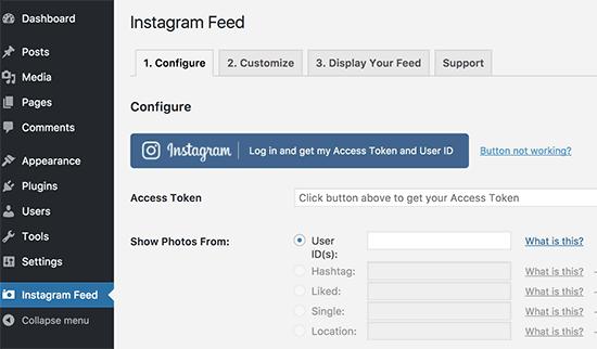 نمایش پست های اینستاگرام در وردپرس با افزونه Instagram Feed
