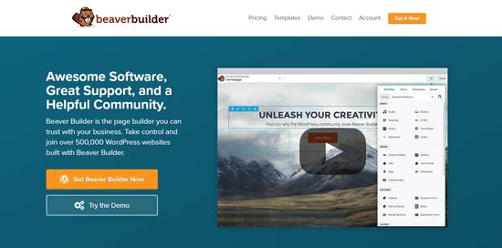 افزونه صفحه ساز وردپرس Beaver Builder
