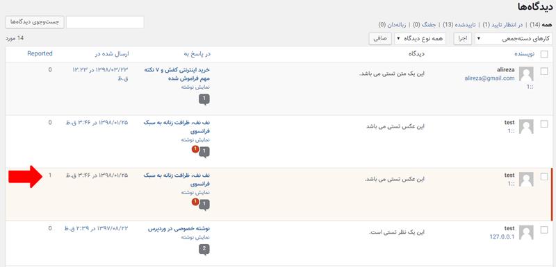 مدیریت گزارش نظرات نامناسب در وردپرس